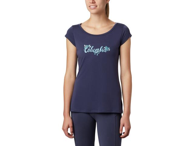 Columbia Shady Grove Camiseta Manga Corta Mujer, azul